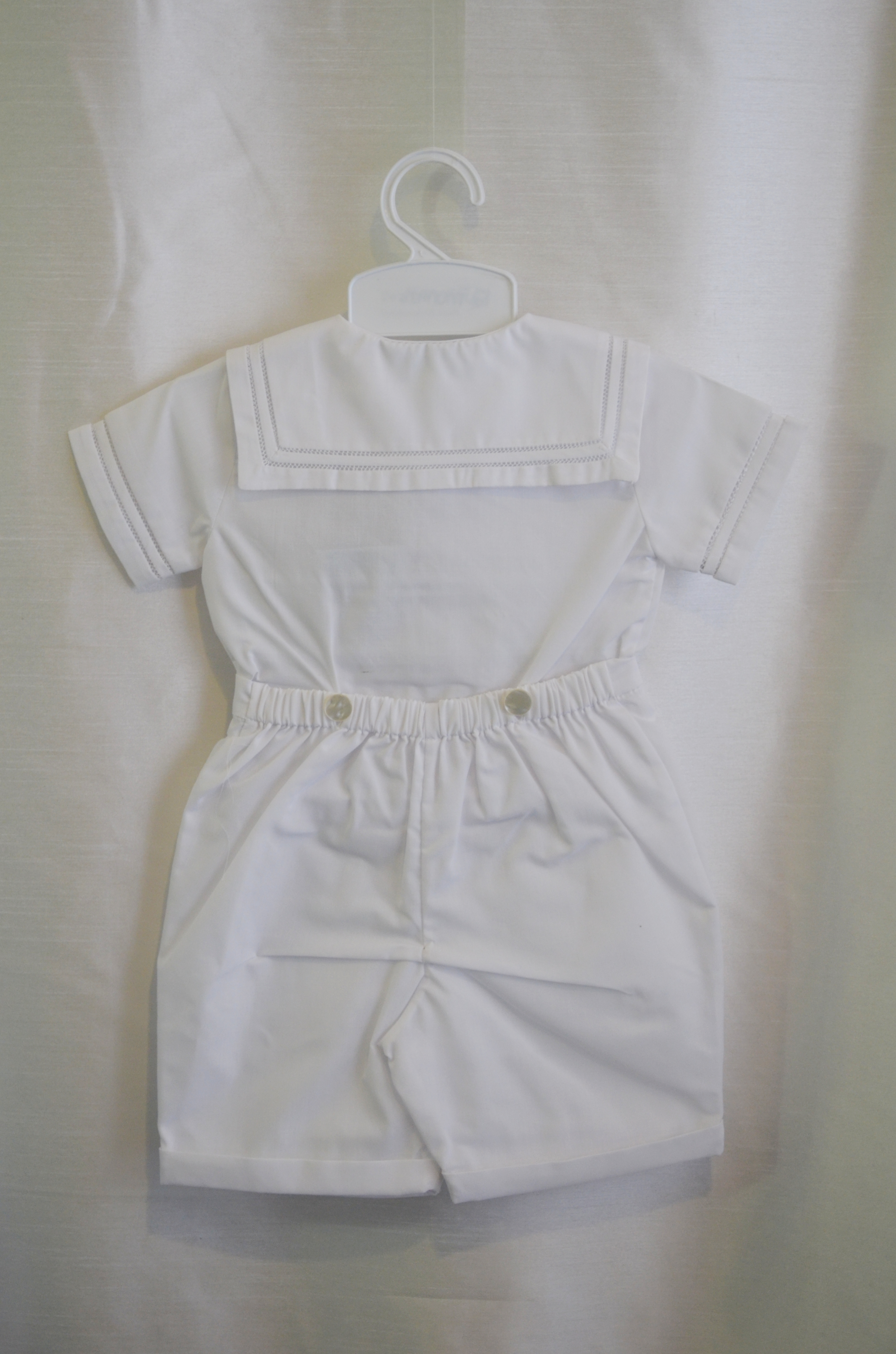 Boys Summer 12 M. Baptism Outfit w/ Front Tie