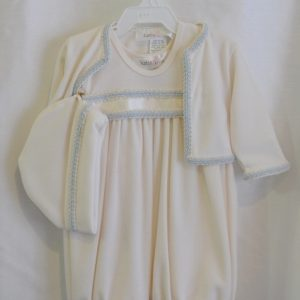 Boys Baptismal Outfit w/ Matching Bonnet