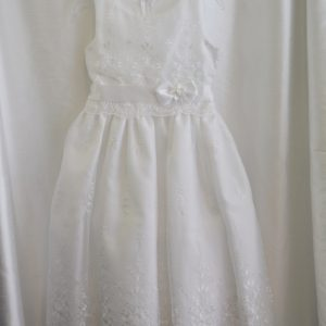 Girls Lace Communion Dress w/ Bow