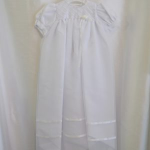 Girls 3-6 M. Long Baptismal Gown w/ Bonnet