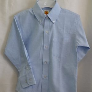 Girls/Womens Long Sleeve Blue Oxford Dress Shirt
