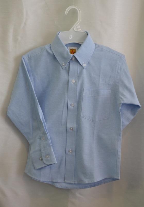 Girls/Womens Long Sleeve Blue Oxford Dress Shirt