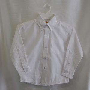 Girls/Womens Long Sleeve White Oxford Dress Shirt