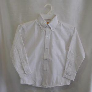 Girls/Womens Long Sleeve White Oxford Dress Shirt