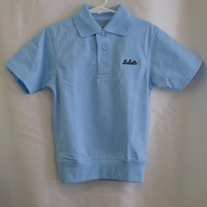 LaSalle Lt Blue Banded Bottom Polo