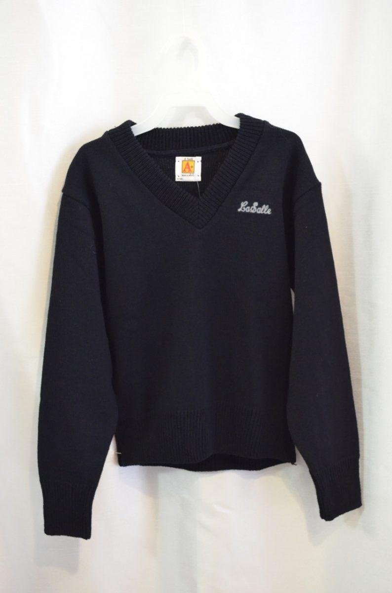 LaSalle Navy Long Sleeve Pullover Sweater