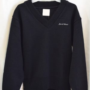 Sacred Heart Long Sleeve Green or Navy Pullover Sweater