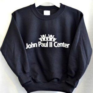 John Paul II Black Sweatshirt For Gym