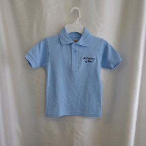 St. Catharine Lt Blue Polo Shirt