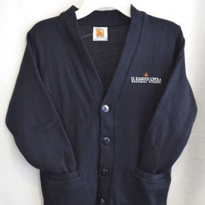St Ignatius Navy V Neck Button Down Cardigan Sweater