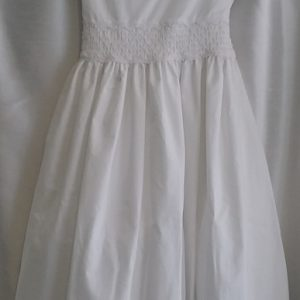 Plain White Communion Dress w/ Tie Back