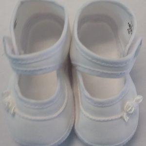 Girls White Baptism Shoe