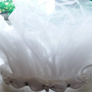 Pearl and Rhinestone Communion Veil