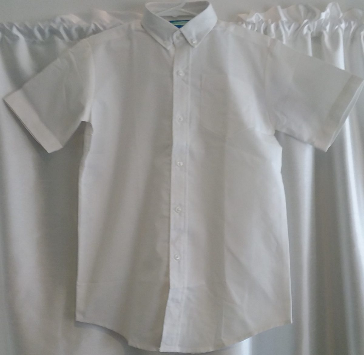 Boys Short Sleeve White Oxford Shirt