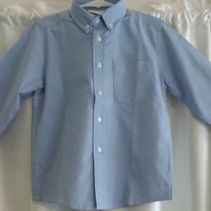 Boys Long Sleeve Blue Oxford