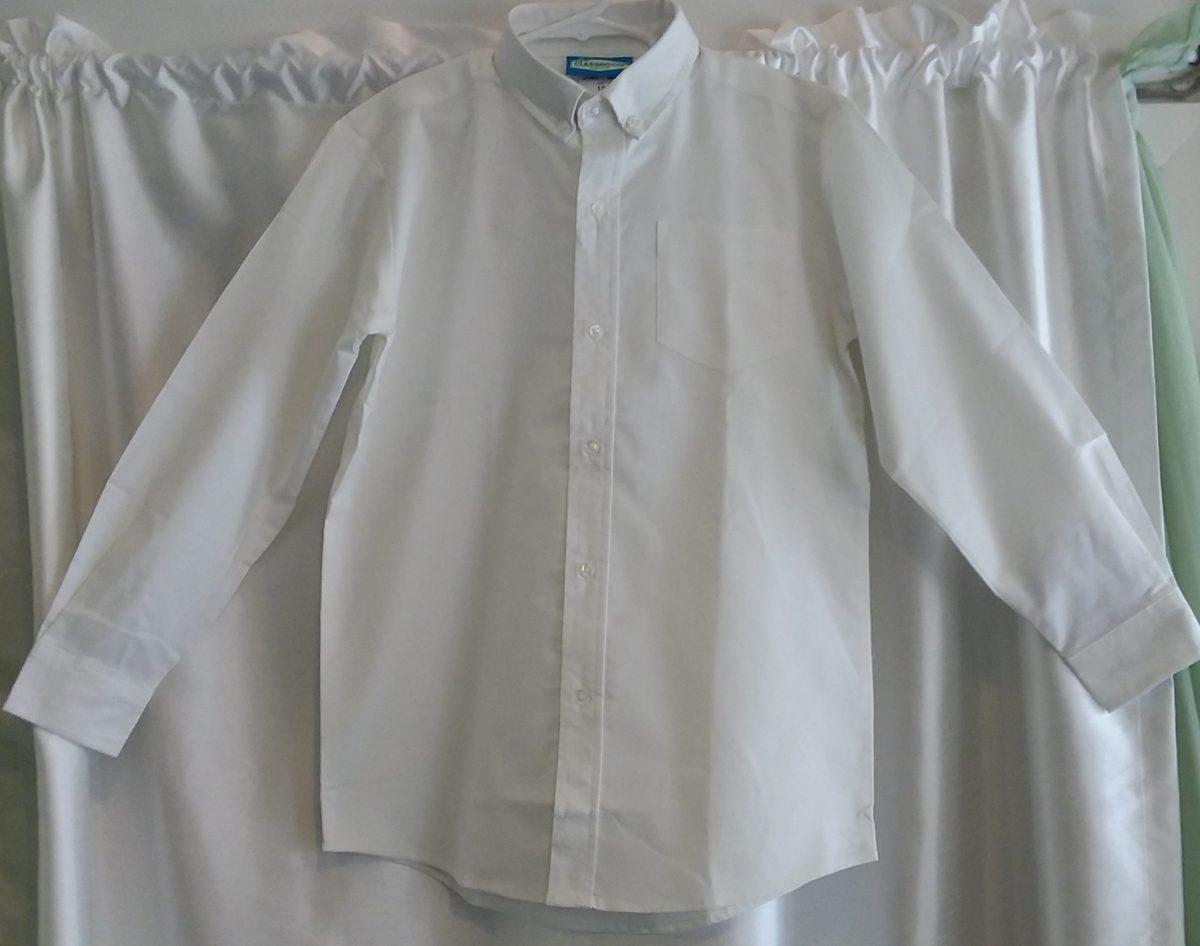 Boys Long Sleeve White Oxford