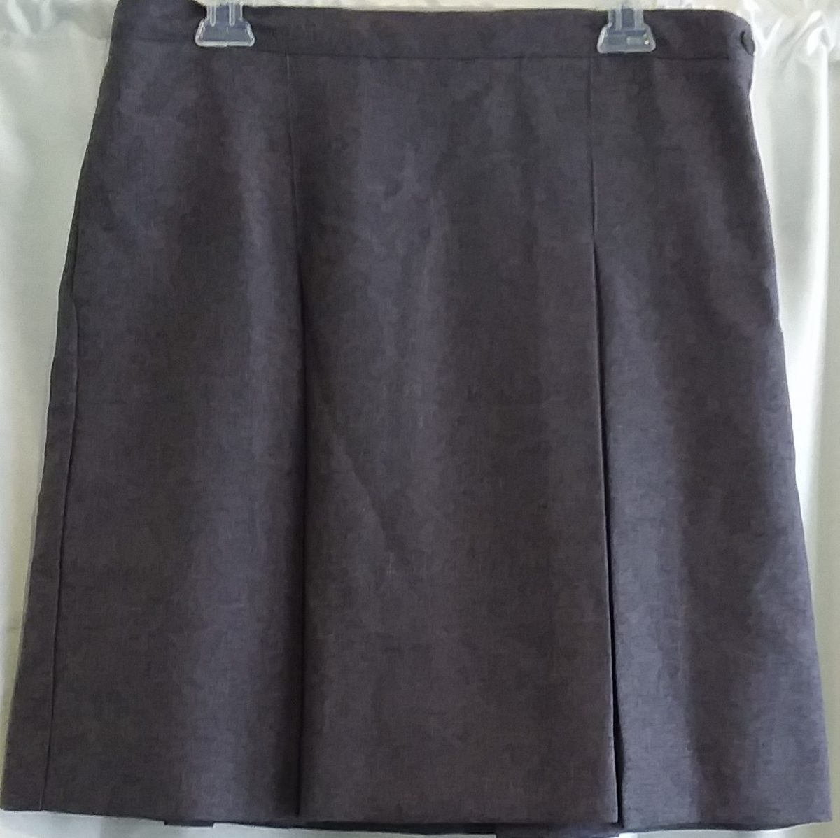 Grey Boxed Pleat Skirt