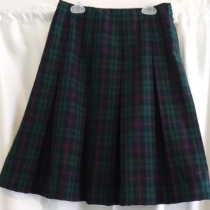 Red, Blue, and Green Plaid Skirt