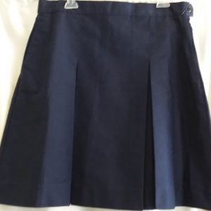 Royal Blue Boxed Pleat Skirt